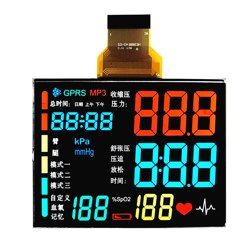 ENH-5508 Segment LCD For industrial control VA Display High resolution LCD display