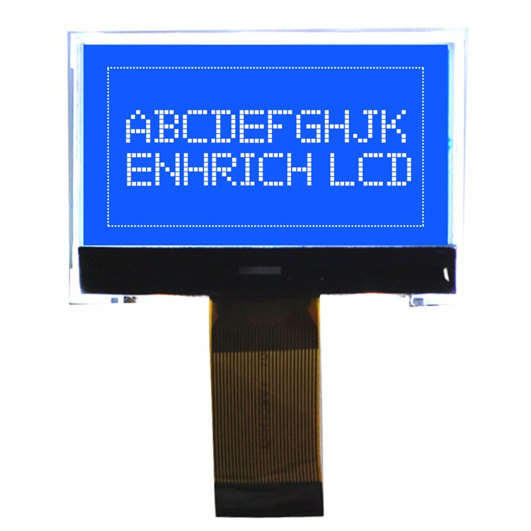 ENH-DG128064-05 128X64 Graphic LCD blue backlight For hand-held devices with good quality