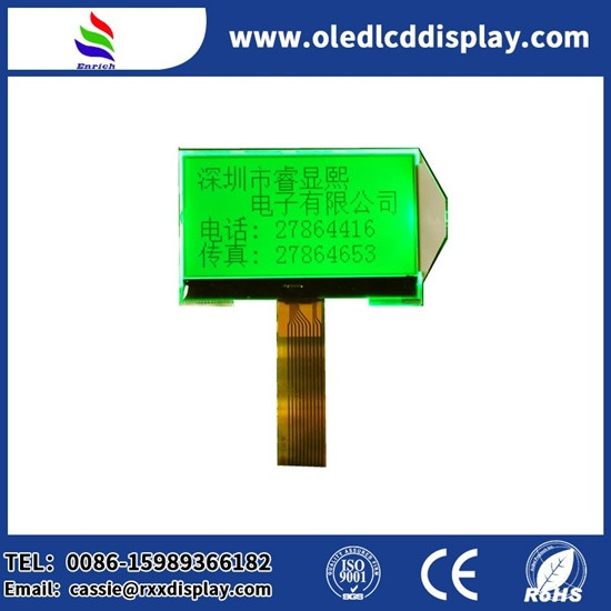 ENH-DG128064-03 128X64 Graphic LCD Green LED backlight For hand-held devices POS machine LCD display