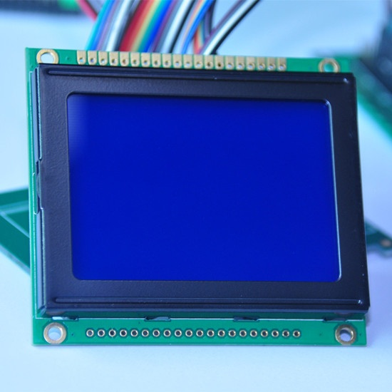 128X64 Graphic LCD module STN blue Transmissive LCD display