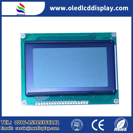 128X64 Gray Graphic LCD module PCB board with wihte led  backlight for industrial control