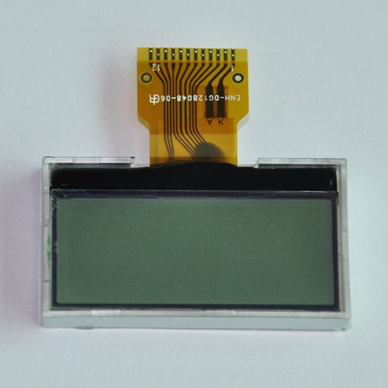 128X48 FSTN FPC connector LCD screen display with white led backlight Custom small size LCD module