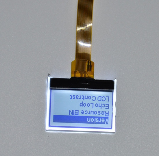 128X64 Graphic LCD display screen FPC connector mono Custom size For small hand-held devices