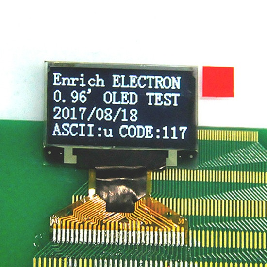 0 96 inch Monochrome OLED 128*64 OLED display module Small