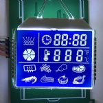 Custom HTN Blue Segment LCD Display For Kitchen